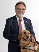 Paul Charles, président de la Fédération française des associations de chiens guides d'aveugles