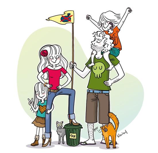 Famille (presque) zéro déchet - dessin blog - crédit DR