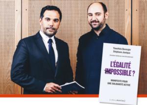 Junique et Duverger, auteurs de L'égalité impossible ? Manifeste pour une solidarité active