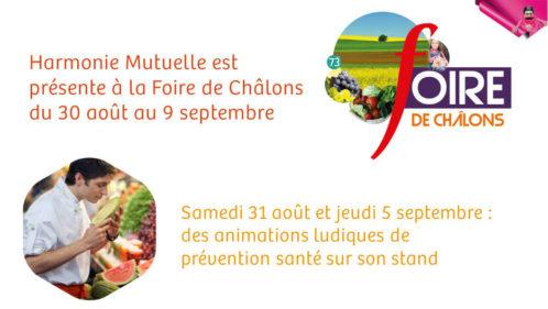 Harmonie Mutuelle à la Foire de Châlons avec 2 animations santé