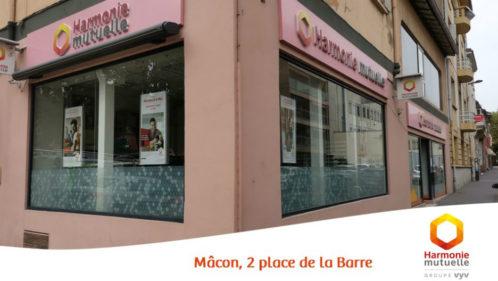 Agence Harmonie Mutuelle Mâcon 2 place de la Barre