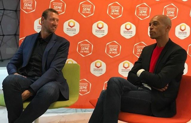 Alain Bernard et Stéphane Diagana