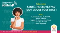 Agora sur les fake news en santé. Paris, le 11 mars