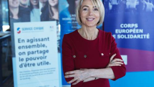 Béatrice Angrand, présidente de l'Agence du service civique