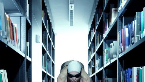 nageuse bibliothèque