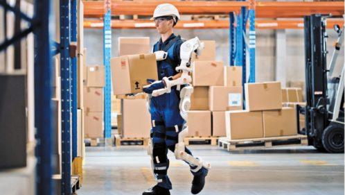 Exosquelette au travail