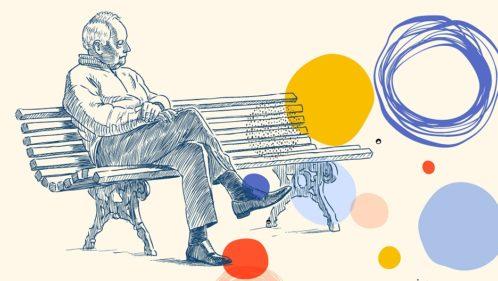 dépression personnes âgées illustration