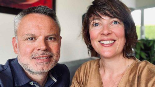 Mélanie Ciardi et Jérôme Lemoine, créateurs de l'application AndyCaptain